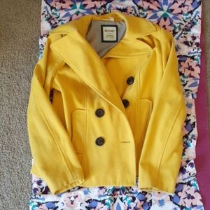 Yellow Pea Coat